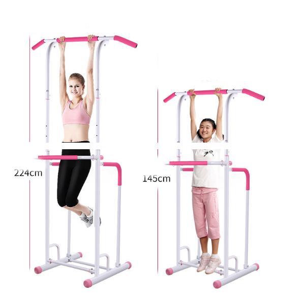 Có thể điều chỉnh kích thước xà phù hợp với chiều cao của người tập